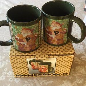 NWOT; Set of 2 Christmas Mugs